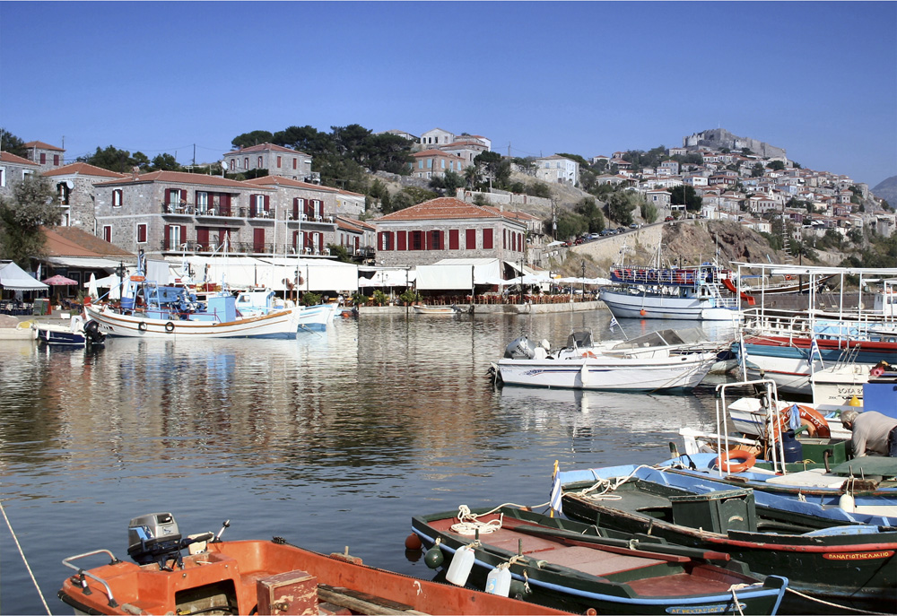 Molyvos Harbour, Lesvos, GREECE